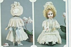 21.5antique French German Bru Doll@1885 Tulle Lace Dress And Bolero Cape Pattern