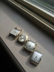 Vintage Benrus Watch Lot Gold 10k Mechanical Parts Repair One Works Fine