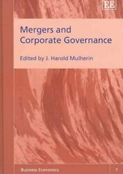 Mergers And Corporate Governance Hardcover By Mulherin John Harold Edt H...