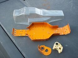 Vintage Team Associated Rc10 Rc 10 Buggy Gold Chassis Body Cover Transmission