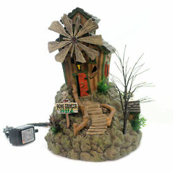 Department 56 House The Bone Grinder Mill Ceramic Animated Halloween 6000663