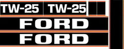 New Tw25 Ford Tractor Black Hood Decal Kit High Quality Long Lasting Decals 🎯