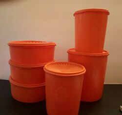 Vtg. Tupperware Canister Set. 6 Containers And 6 Lids.