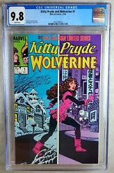 Kitty Pryde And Wolverine 1 Marvel 1984 Cgc 9.8 Nm/mt White Pages Comic U0016