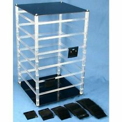 Revolving Rotating Jewelry Display With 100 2 Black Hanging Earring Cards