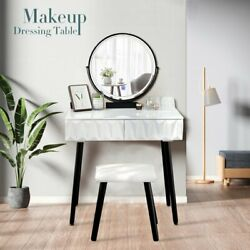 Vasques Vanity Table Set With Mirror And Stool