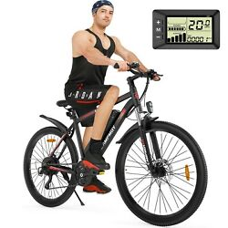 Campmoy 350w Electric Mountain Bike Removable Batteryandlcd Display 26in Tire