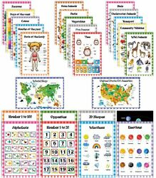 Traceease Educational Poster For Elementary School Pack Of 25 Laminated-bjt