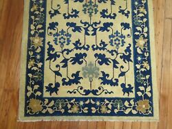 Antique Chinese Peking Rug Size 3and039x5and03910and039and039