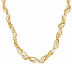 Honora Cultured Pearl 7.0mm Wrapped 24 Yellow Bronze Necklace