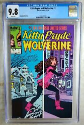 Kitty Pryde And Wolverine 1 Marvel 1984 Cgc 9.8 Nm/mt White Pages Comic U0024