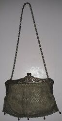 Antique German Silver Change Purse Early 1920s Stamped