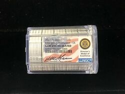 Roll Of 20 - 2021p Silver Eagle Ngc Gem Uncirculated Miles Standish Signed