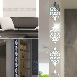 3D Mirror Flower Removable Wall Sticker Acrylic Mural Decal Art Wall Home Decors