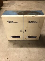Old Genuine Omc Johnson Evinrude Outboard Motor Ignition Parts Metal Cabinet