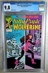 Kitty Pryde And Wolverine 1 Marvel 1984 Cgc 9.8 Nm/mt White Pages Comic U0028