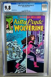 Kitty Pryde And Wolverine 1 Marvel 1984 Cgc 9.8 Nm/mt White Pages Comic U0029