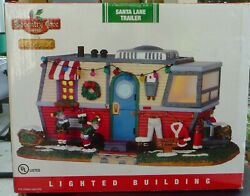 Lemax Coventry Cove Santaand039s Lane Trailer Lighted Christmas Village New Rare