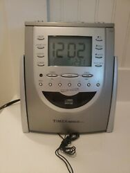 Timex T618t Am/fm Radio Cd Player Alarm Clock Snooze Nature Sounds Works
