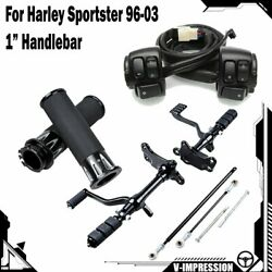 Forward Controls And Horn Switch Control W/hand Grips For 96-03 Harley Sportster