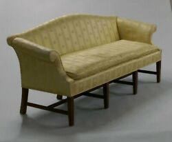 Nice Antique Chippendale Style Camel Back Sofa Or Settee With Mahogany Frame.