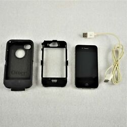 Apple Iphone 4s A1387 W/otterbox Tested And Works Preowned