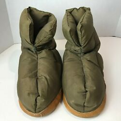 Herters Camp Down Bootie Slipper Womenand039s Large