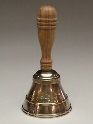 Wooden Handled Brass Table Bell Engraved Andldquocaptainandrsquos Table Rms Titanic 1911