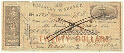 Texas C.s.a. State Treasurer Of Tw-23 20 Military 79q May 13 1862 Vf+