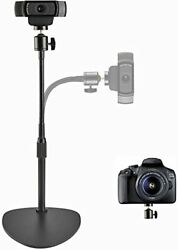 Oxendure Webcam Stand Camera Mount With Anti-tipping Weighted Basefor Logitech