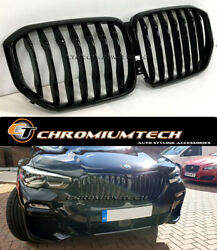 2018 And Up Bmw X5 G05 Gloss Black Full Replacement Grille New