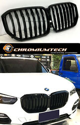 Gloss Black Full Replacement Front Grille For 2018 And Up Bmw X5 G05 New