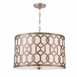 Libby Langdon For Crystorama Jennings 5 Light Aged Brass Chandelier