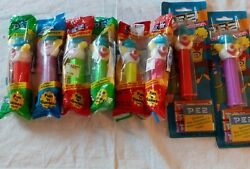 Peter Pez Dispenser Clowns Sealed In Bags Or On Card Lot Of 8 Collectible