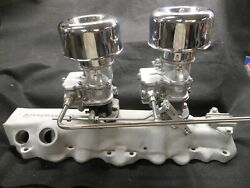 Vintage Speedand039s Edmunds 2x2 Ford Flathead And03949-and03953 Stromberg 97 Hot Rat Rod