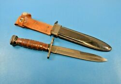 Vintage Commercial U.s. Military Style M1 Carbine Bayonet Knife + Scabbard Japan