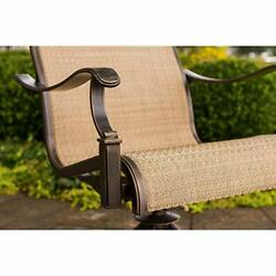 Hanover Mandn5pcsw-4 Chairs And 48 Round Cast Aluminum Table Bronze Manor 5...