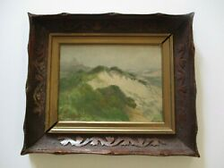 Antique Small Gem California Impressionist Painting Landscape Mystery Sand Dunes