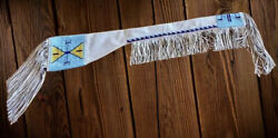 Native American Indian Beaded Sioux Style Suede Leather Rifle Scabbard S513