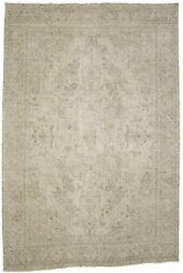 Distressed Antique Traditional 7and0396x11and0393 Muted Oriental Rug Home Decor Carpet