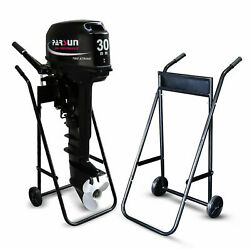 Heavy Duty Outboard Boat Motor Stand Carrier Cart Dolly 70kg Weight Capacity Us