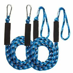 Bungee Cords 2pcs Boat Docking Lines Rope Stretches 4 To 5.5 Ft Mooring Foams