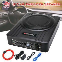 8and039and039 Car Under-seat Active Subwoofer Power Amplifier Bass Hifi Slim Loud Speaker