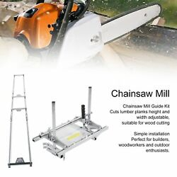 Portable Chain Saw Mill Log Planking Lumber Cutting 24 Chainsaw Guide Bar
