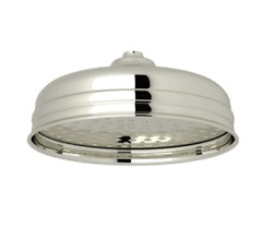 Rohl Perrin And Rowe 8 Single Function Shower Head In Polished Nickel