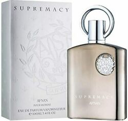 Supremacy Silver By Afnan Cologne For Men Edp 3.3 / 3.4 Oz New In Box