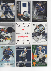 St. Louis Blues Serial 'd Rookies Autos Jerseys All Cards Are Good Cards