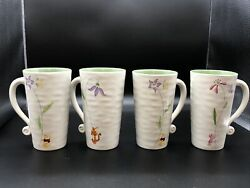 Disney Store Winnie The Pooh Piglet, Tigger And Butterlies Tall Latte Coffee Mug