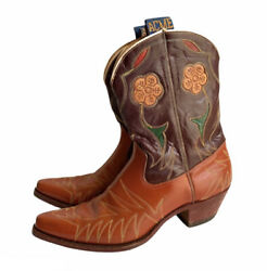 Size 10.5 B - 1950's Acme Womens Cowboy Western Inlay Boots Pee Wee Vintage