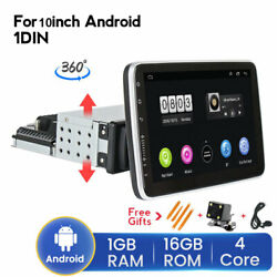 Android9.1 Car Stereo Radio Mp5 Player 1din 10.1 Touch Screen Gps Wifi Rotable
